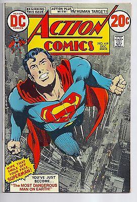 Action Comics #419 Neal Adams Cover Superman Human Target DC Comics