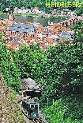 Ansichtskarte: Standseilbahn: Bergbahn Linie 2 in Heidelberg, Schloßauffahrt