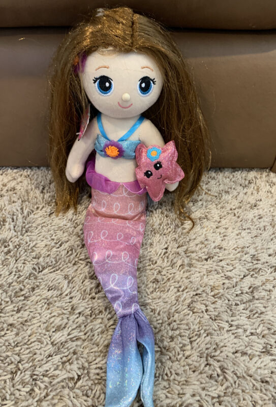"First & Main 18"" Fantasea Friends  Mermaid Doll Shelf sitter Plush Toys"
