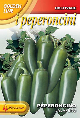 50 Semi/Seeds PEPERONCINO Jalapeno