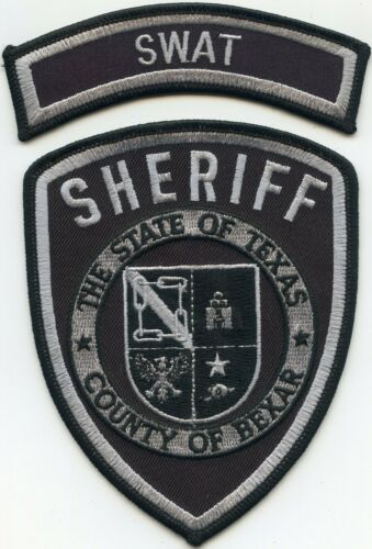 BEXAR COUNTY TEXAS TX with rocker SWAT SHERIFF POLICE PATCH