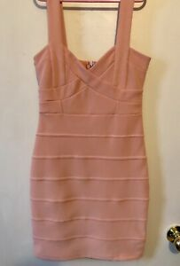 Woman's Pink Bodycon Dress - Size Xsmall