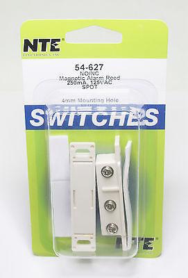 1x Nte 54-627 Magnetic Alarm Reed Switch - Spdt Ncno - 250ma 100vdc 125vac