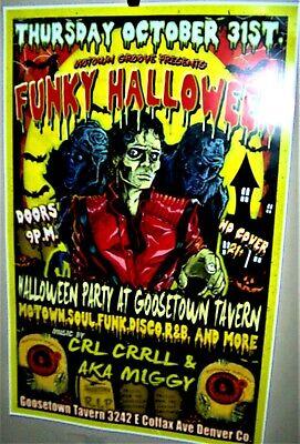 MICHAEL JACKSON THRILLER Halloween Show Poster Denver Co October 31st 2019