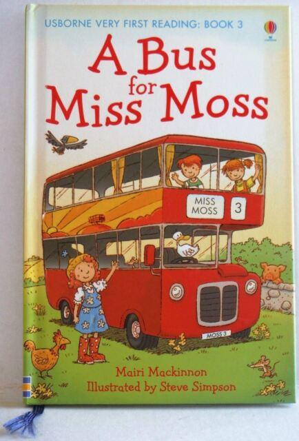 A Bus for Miss Moss by Mairi Mackinnon (Hardback, 2010) first reading homeschool