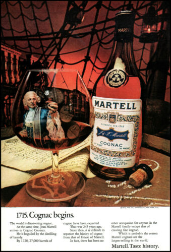 1971 Jean Martell inside snifter Martell Cognac ship vintage photo print ad L22