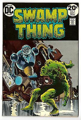 SWAMP THING # 6 (1st Series)  - DC 1973 -  Berni Wrightson Art (fn)