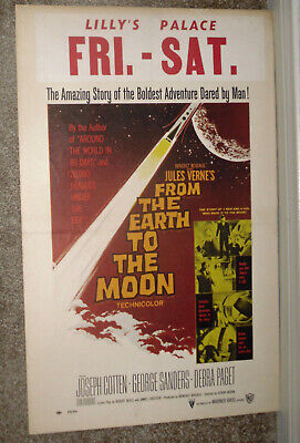 FROM THE EARTH TO THE MOON original 1958 movie poster DEBRA PAGET/GEORGE