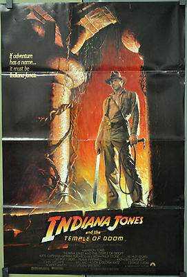 Indiana Jones And The Temple Of Doom 1984 Orig Movie Poster 27X41  Harrison Ford