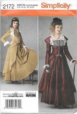 Simplicity Pattern 2170 (14-16-18-20-22) Coat/Bustier/Skirt Cosplay Steampunk