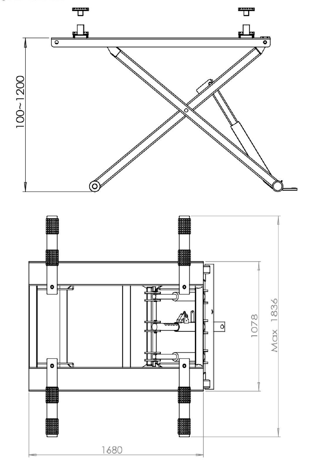 Portable Scissor Lift / Car Lift / Car Hoist /Workshop