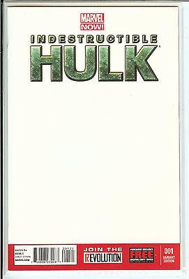 Indestructible Hulk #1 Marvel Now! Blank Variant NM