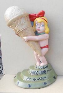 1950s Ice Cream Girl Advertising Figure