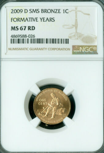 2009-D LINCOLN CENT FORMATIVE YEARS NGC MS67 RD SMS  .