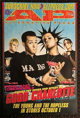 GOOD CHARLOTTE 24x36 official AP Epic promo poster record store display 2002