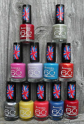 RIMMEL 60 SECONDS NAIL POLISH - PICK YOUR SHADE