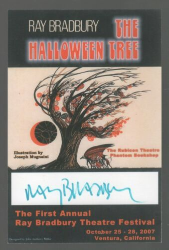 RAY BRADBURY THEATRE FESTIVAL SIGNED BOOKPLATE THE HALLOWEEN TREE 2007