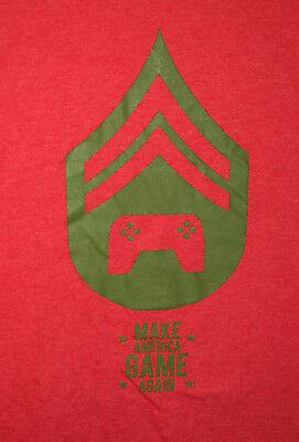Donald Trump Spoof Video Parody Make America Game Again Red T-Shirt New Sz XL