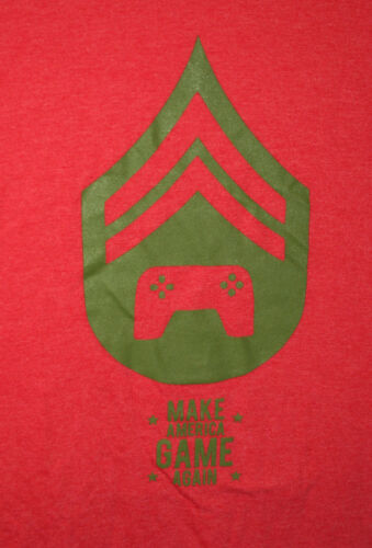 Donald Trump Spoof Video Parody Make America Game Again Red T-Shirt New Sz XL