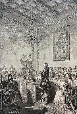 Lord William Russell trial 1683 engraving 19th England Great Britain Whig