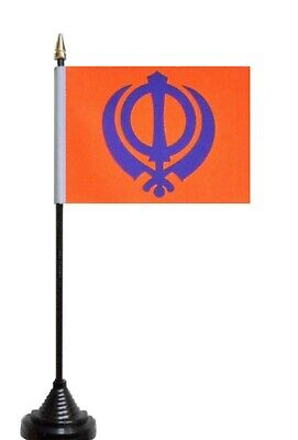 Sikh Sikhism Khanda Symbol Polyester Flag Bunting 3m long with 10 Flags