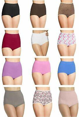 BALI ~ 3 NEW Women/'s Nylon Brief Underwear Panties Skimp Skamp ~ L//7