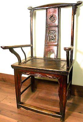 Antique Chinese High Back Arm Chair (5858), Circa 1800-1849