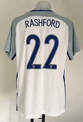ENGLAND 2016-17 S/S HOME SHIRT RASHFORD 22 BY NIKE SIZE MEN'S XXL BRAND NEW