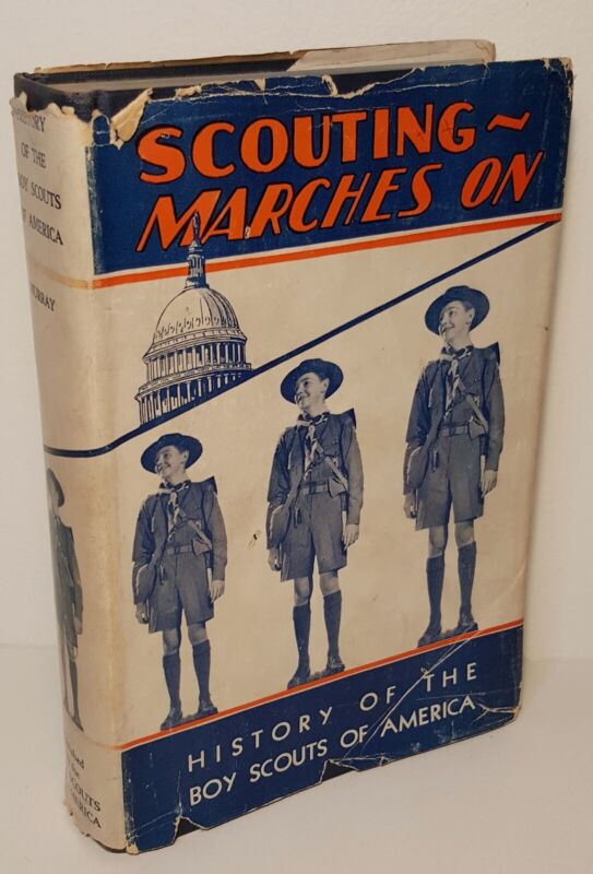 1937 History of the Boy Scouts of America William Murray with Scarce Dust Jacket