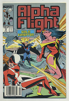 Alpha Flight #72 (Jul 1989 Marvel) [Newsstand Edition] Hudnall Gerry Talaoc Pv