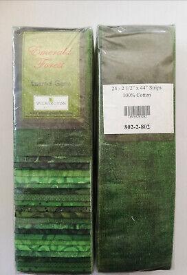 Strips Jelly Roll 24 Stoffstreifen 6,35 X 112 cm Baumwolle Emerald Forest Grün