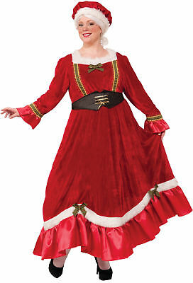 Santa's Mrs. Claus Adult Costume Fancy Dress Red Green Christmas Women Plus Size