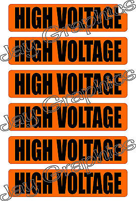 High Voltage Labels Conduit Markers Stickers Decals Electrical 6x Volts
