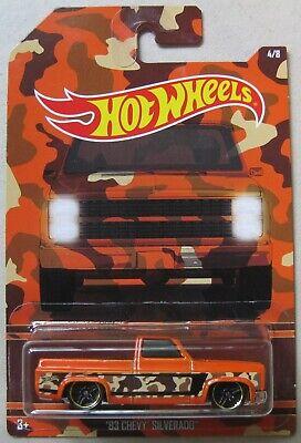 Hot Wheels Walmart Camouflage series trucks '83 CHEVY SILVERADO 4/8 orange