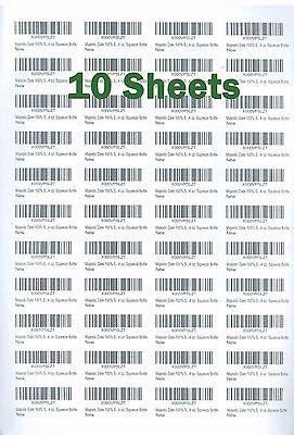 44-up Printer Labels A4 Sticker Fba Label 10 Sheets 440 Labels 48.5 X 25.4 Mm