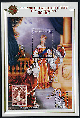 New Zealand 889a MNH Queen Victoria, Stamp on Stamp, o/p SYDPEX '88