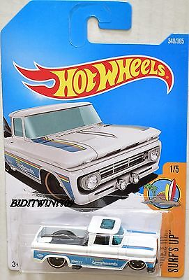 HOT WHEELS 2017 SURF'S UP CUSTOM '62 CHEVY PICKUP #1/5 WHITE