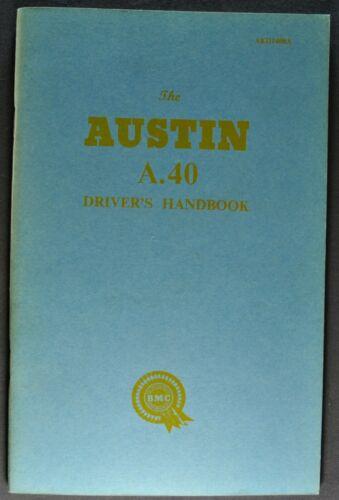 1960 Austin A40 Owner