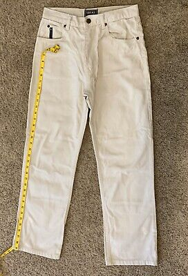 "Versace Classic V2 Denim Light Beige Jeans Mens Size 30"" X 38"" Made In Italy"