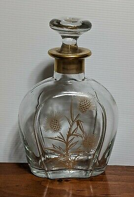 Mercury Glass Ribbed Bottle Decanter