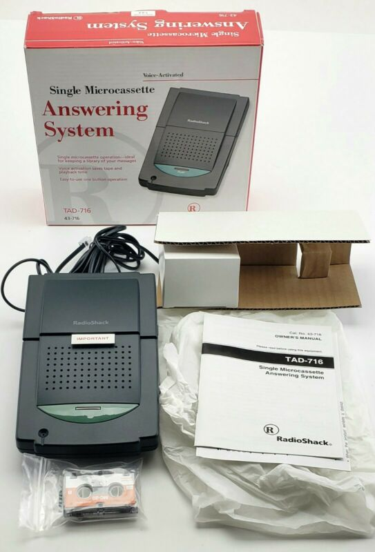 Radio Shack Voice Activated Answering Machine. TAD-716. New Open Box.