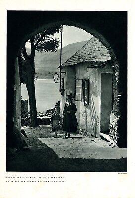 Dürnstein Wachau XL 1937 Fotoabbildung Niederösterreich Idyll Tracht Donau
