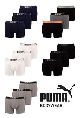 Mens 3 Pack Puma Sueded Cotton Boxer Shorts with  Logo WaistBand