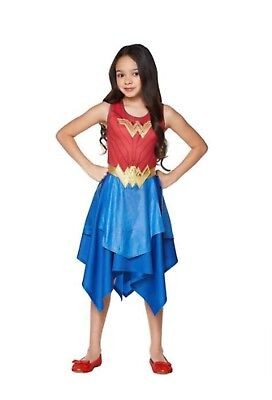 SPIRIT HALLOWEEN Wonder Woman Girls Medium Costume Deluxe Movie Dress Gladiator  (Wonder Woman Costume Spirit)
