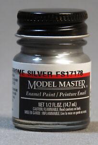 TESTORS PAINT MODEL MASTER CHROME SILVER ENAMEL kit 1/2oz 14.7ml NEW 1790
