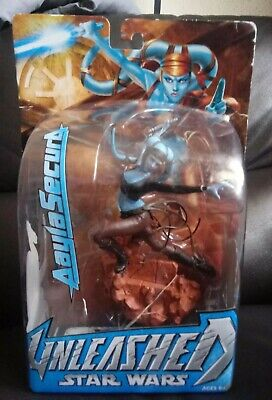 Star Wars Unleashed Aayla Secura Action Figure in box Sealed,Hasbro,Clone Wars