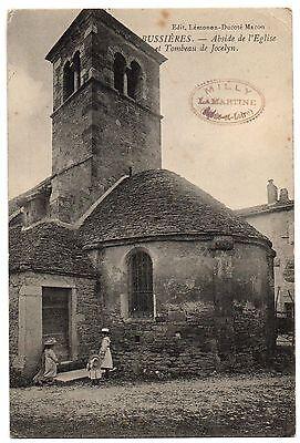 CPA 71 - BUSSIERES (Saône et Loire) - Abside de l'Eglise et Tombeau de Jocelyn