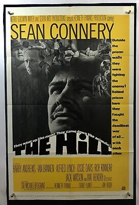 HILL Movie Poster (VeryGood+) One Sheet 1965 Sean Connery Harry Andrews 1438