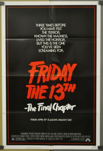FRIDAY THE 13TH THE FINAL CHAPTER 1984 27X41 NM MOVIE POSTER ERICH ANDERSON