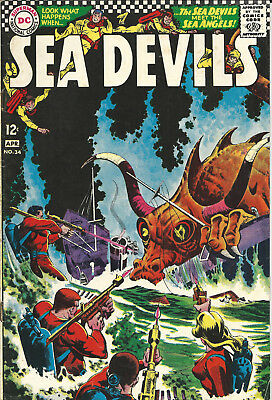 DC Comic Sea Devils No. 34 (April 1967) Very Good Condition